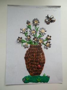 Мокрушина Юля, 4г, Цветы в вазе